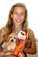 "Jaci with Finnley and ""Carlos"" the monkey toy. Too cute!"